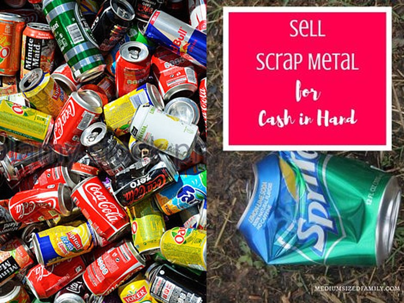 Recycle cans, cash in hand